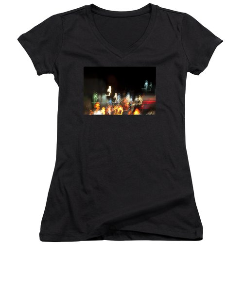 Night Forest - Light Spirits Limited Edition 1 Of 1 Women's V-Neck