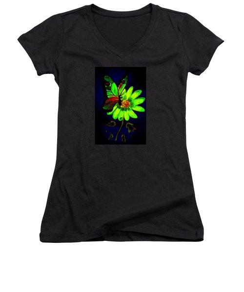 Night Glow Women's V-Neck T-Shirt