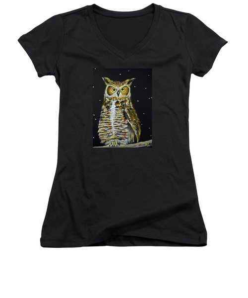 Night Owl Women's V-Neck T-Shirt