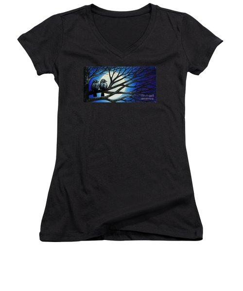 Night Perch Women's V-Neck (Athletic Fit)