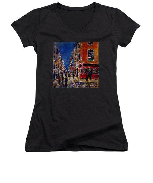 Nightlife, Temple Bar Dublin  Women's V-Neck T-Shirt