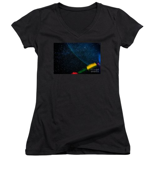 Nightscape Stars In Himalayan Mountain Women's V-Neck