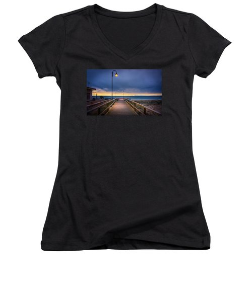 Nighttime Walk. Women's V-Neck