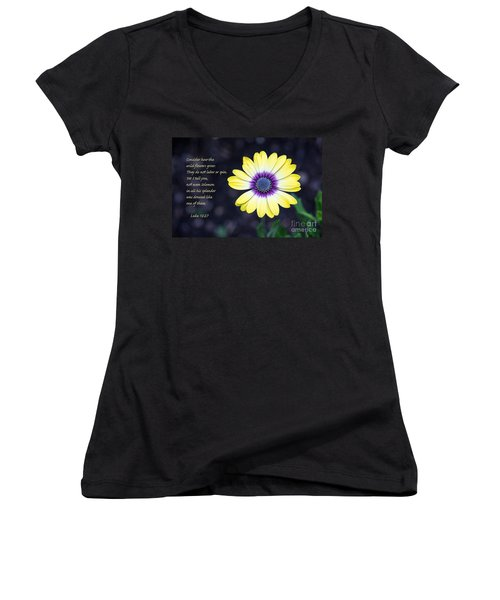 No Worries Women's V-Neck (Athletic Fit)