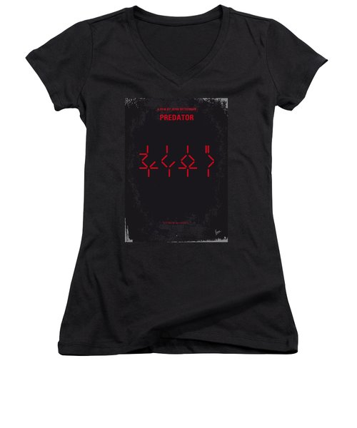 No066 My Predator Minimal Movie Poster Women's V-Neck