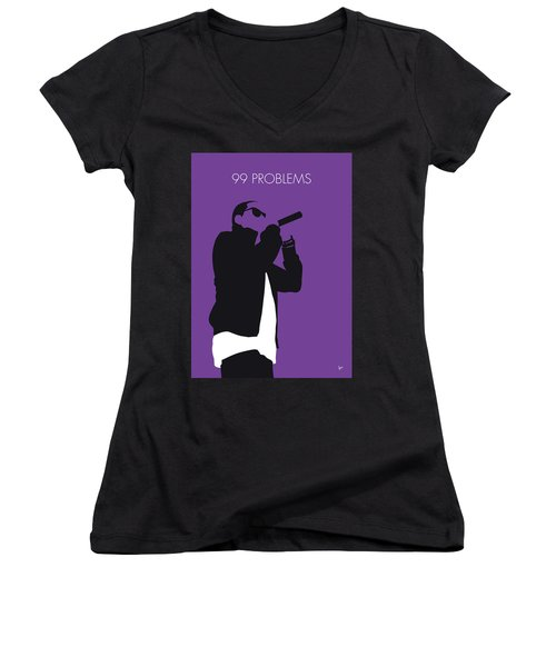 No101 My Jay-z Minimal Music Poster Women's V-Neck T-Shirt