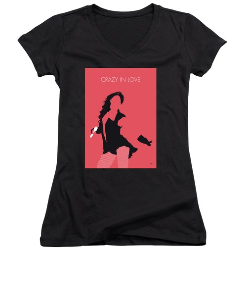 No122 My Beyonce Minimal Music Poster Women's V-Neck T-Shirt