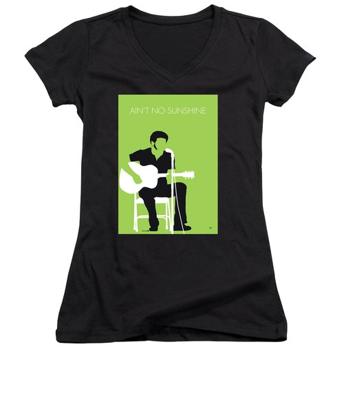 No156 My Bill Withers Minimal Music Poster Women's V-Neck (Athletic Fit)