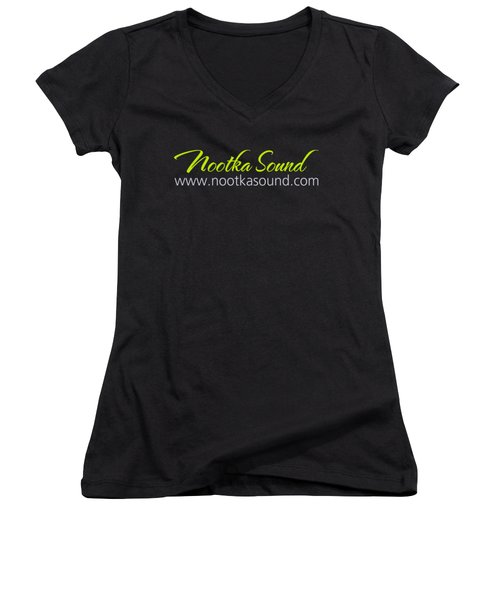 Nootka Sound Logo #6 Women's V-Neck T-Shirt (Junior Cut) by Nootka Sound