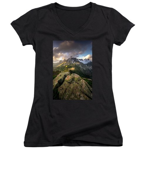 North Cascades National Park Women's V-Neck (Athletic Fit)