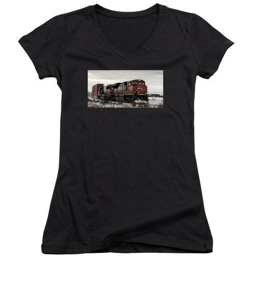 Northbound Double Stack Women's V-Neck (Athletic Fit)