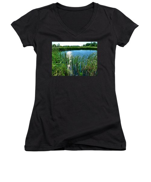 Northern Ontario 2 Women's V-Neck (Athletic Fit)