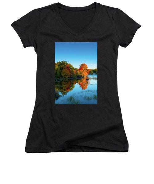 Northwood Lake Autumn Women's V-Neck