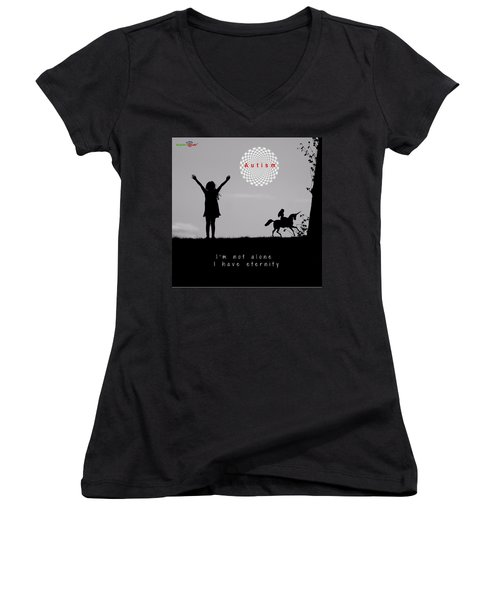 Not Alone Women's V-Neck (Athletic Fit)