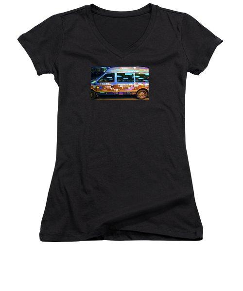Grateful Dead - Not Fade Away Women's V-Neck T-Shirt (Junior Cut) by Susan Carella