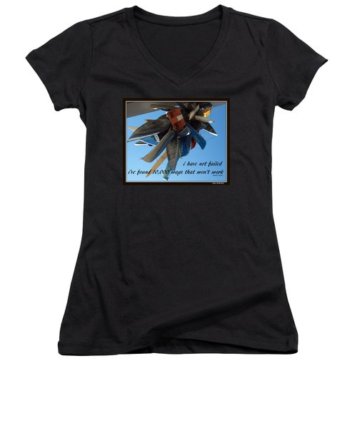 Women's V-Neck T-Shirt (Junior Cut) featuring the photograph Not Failed by Irma BACKELANT GALLERIES