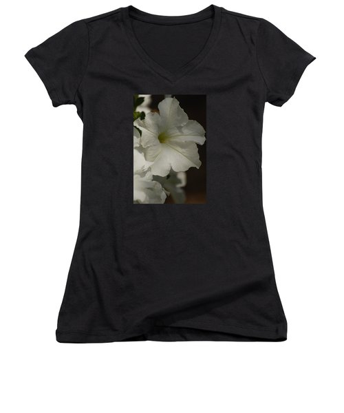 Women's V-Neck T-Shirt (Junior Cut) featuring the photograph Not Perfect But Beautiful by Ramona Whiteaker