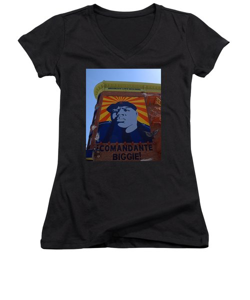 Notorious B.i.g. I I Women's V-Neck T-Shirt (Junior Cut) by  Newwwman