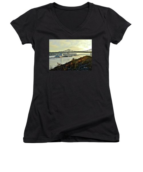 November Barge Women's V-Neck (Athletic Fit)
