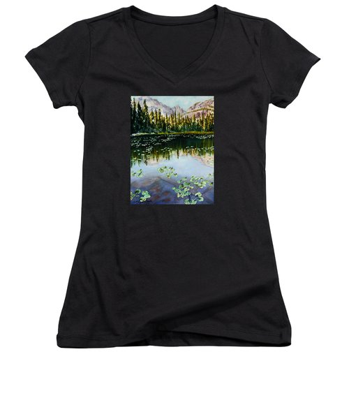 Nymph Lake Women's V-Neck T-Shirt