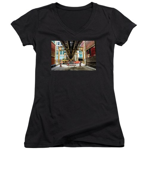 Obey The Signs Women's V-Neck