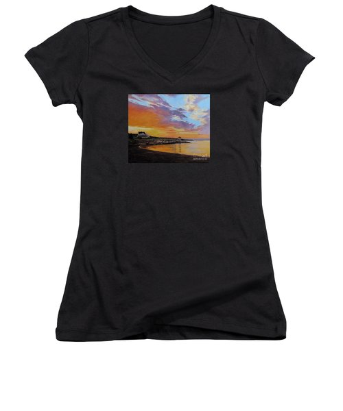 Observatory Point, Rockport, Ma Women's V-Neck T-Shirt