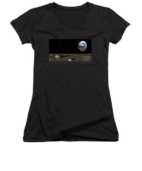 Observing Mom Women's V-Neck T-Shirt