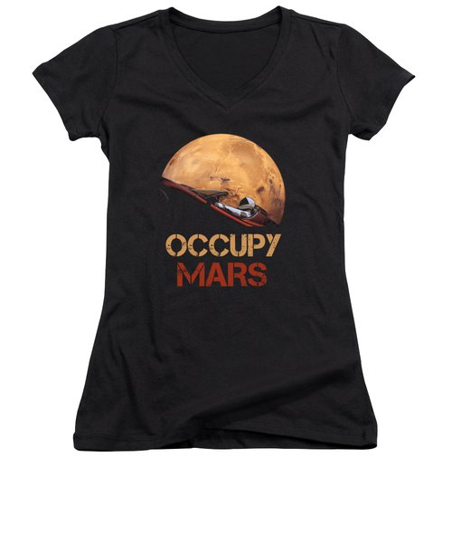 Occupy Mars Women's V-Neck (Athletic Fit)