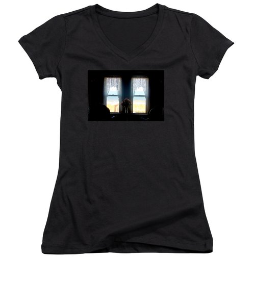Ocean View Women's V-Neck T-Shirt (Junior Cut) by Todd Breitling