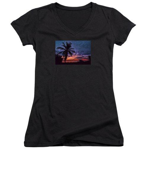 Oceanfront Before Sunrise Women's V-Neck T-Shirt