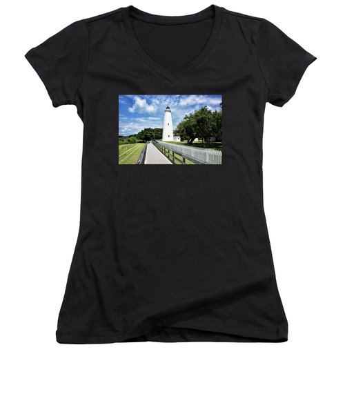 Ocracoke Light Women's V-Neck (Athletic Fit)