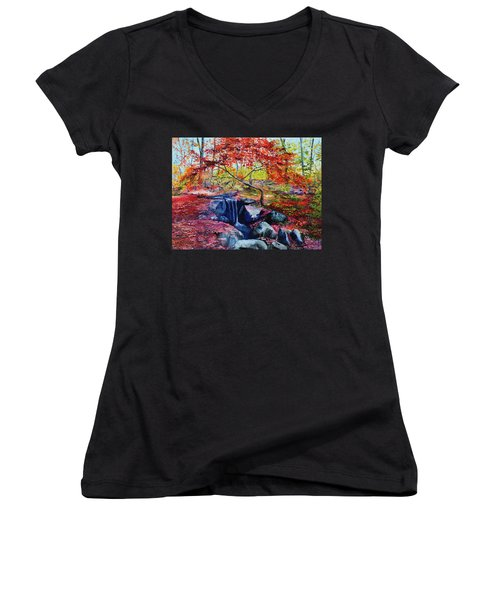 October Riot Women's V-Neck T-Shirt