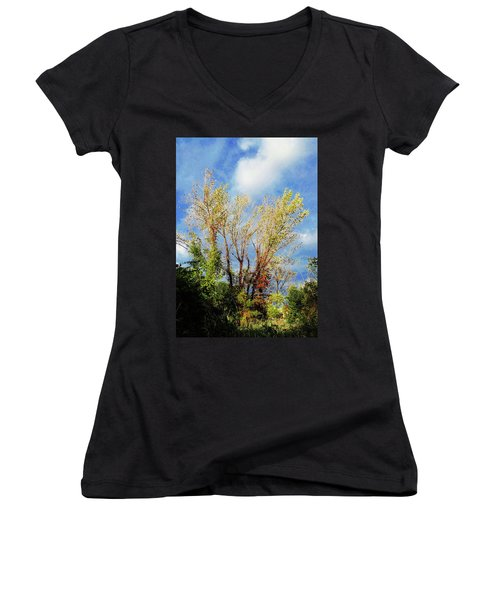 October Sunny Afternoon Women's V-Neck (Athletic Fit)