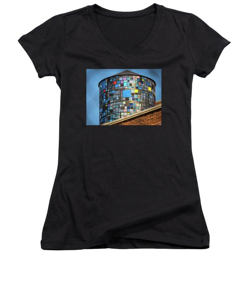 Ode To Water Towers Women's V-Neck (Athletic Fit)
