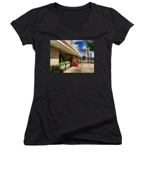 Off To The Market Women's V-Neck