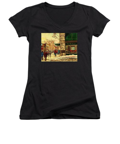 Ogilvys Department Store Downtown Montreal Women's V-Neck T-Shirt