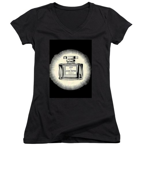 Women's V-Neck (Athletic Fit) featuring the digital art Oh Joy by ReInVintaged