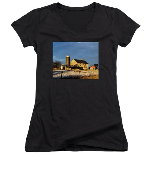 Old Barn 2 Women's V-Neck