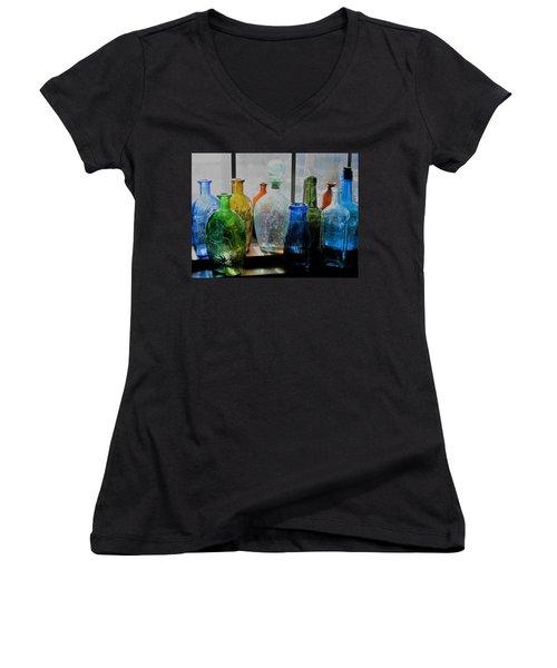 Old Bottles Women's V-Neck T-Shirt