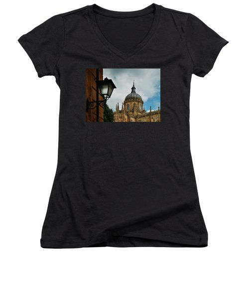 Old Cathedral, Salamanca, Spain  Women's V-Neck