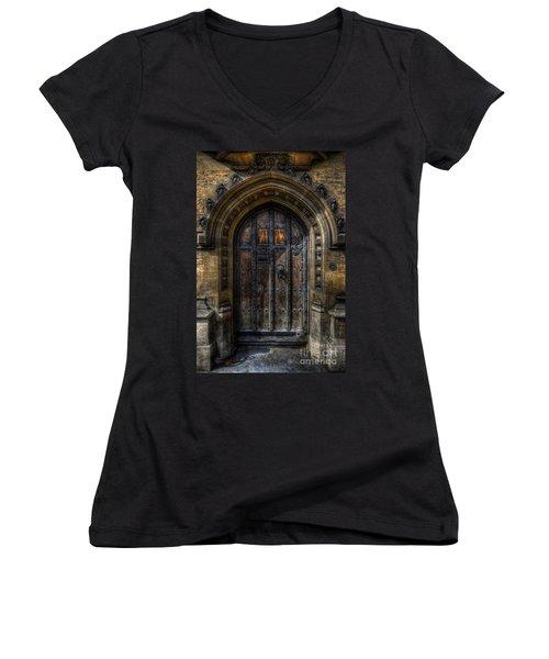 Old College Door - Oxford Women's V-Neck