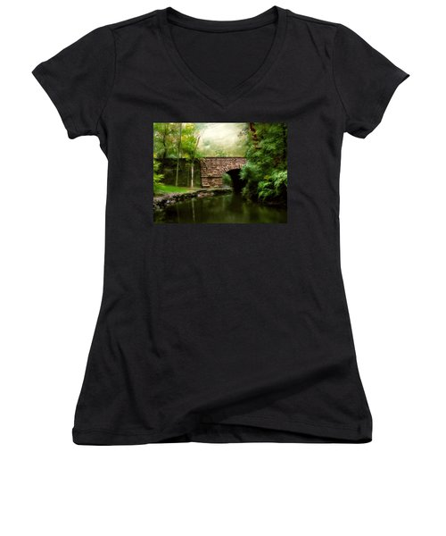 Old Country Bridge Women's V-Neck