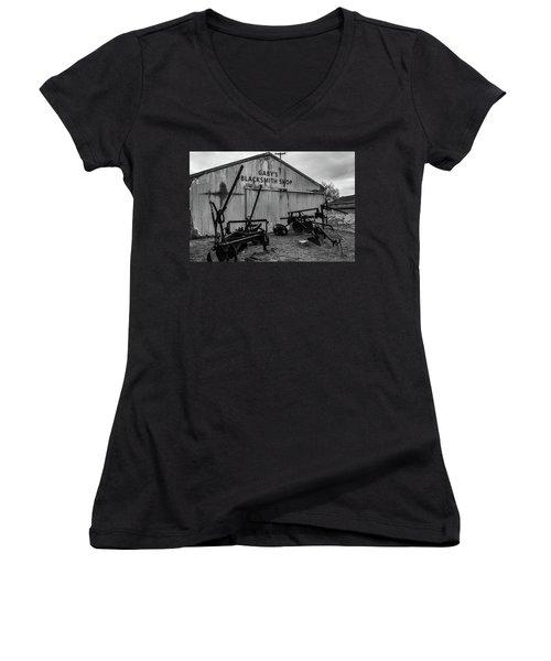 Old Frisco Blacksmith Shop Women's V-Neck