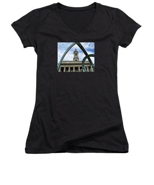 Old Main Thru The Turtle Women's V-Neck T-Shirt