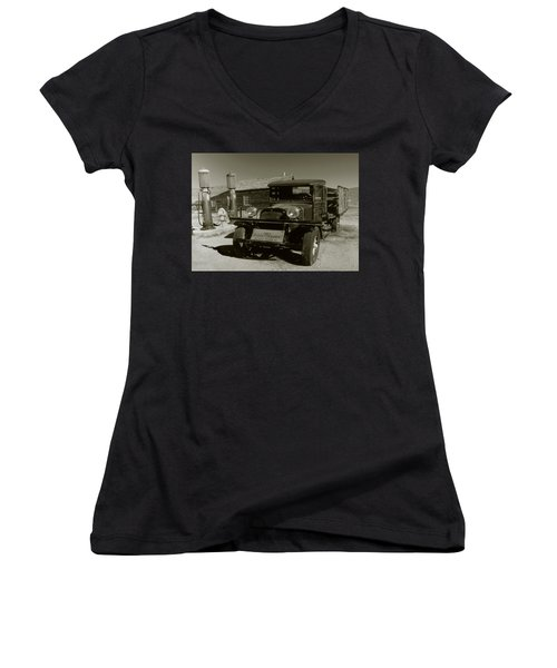 Old Pickup Truck 1927 - Vintage Photo Art Print Women's V-Neck