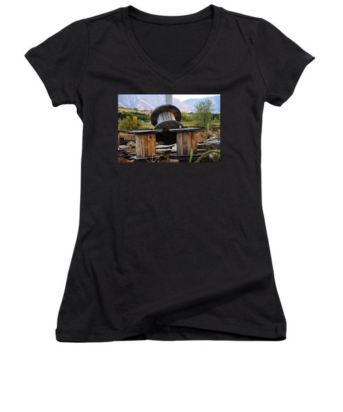 Old Spool Women's V-Neck T-Shirt