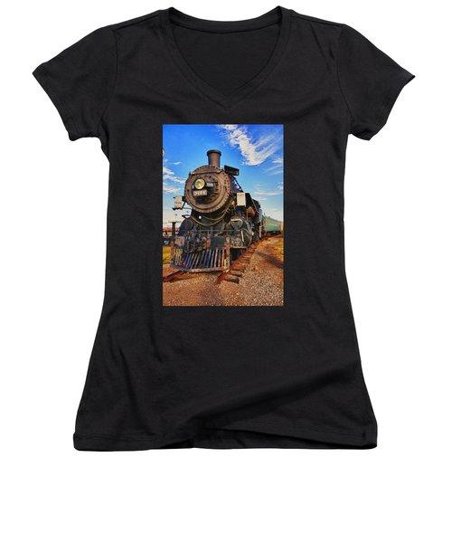 Old Train Women's V-Neck