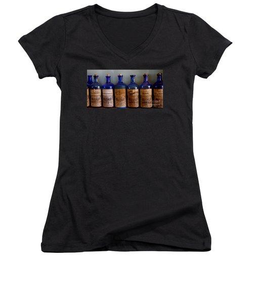 Women's V-Neck T-Shirt (Junior Cut) featuring the photograph Old West 10 by Deniece Platt