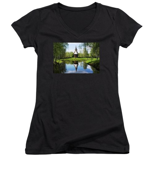 Old World Church Women's V-Neck T-Shirt