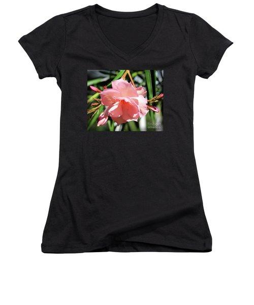 Oleander Mrs. Roeding 3 Women's V-Neck T-Shirt (Junior Cut) by Wilhelm Hufnagl